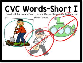 Boom Cards- CVC Words Short I Digital Task Cards
