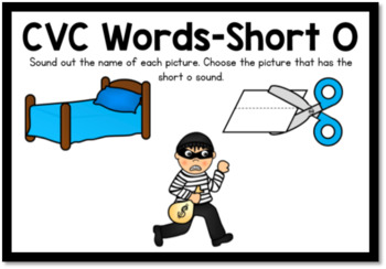 Boom Cards- CVC Words Short O Digital Task Cards