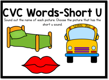 Boom Cards- CVC Words Short U Digital Task Cards
