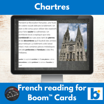 Boom Cards™ - Chartres Cathedral reading for French learners