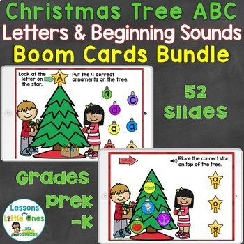 Boom Cards Christmas ABC Bundle (Uppercase, Lowercase Letters, Beginning Sounds)