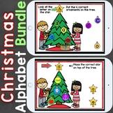 Boom Cards Christmas ABC Bundle (Uppercase, Lowercase Lett