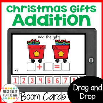 Boom Cards Christmas Addition Math Mini Bundle