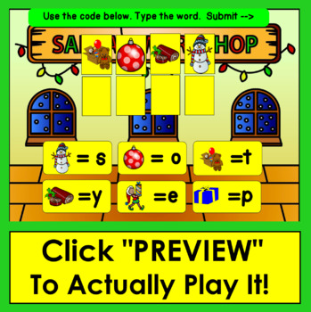 Boom Cards Christmas Coding Mystery Words!  Christmas & Winter Vocabulary Words