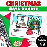 Boom Cards Christmas Math Bundle Second Grade