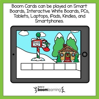 Boom Cards Christmas Sentence Scrambles