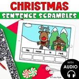 Christmas Sentence Scrambles Boom Cards