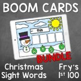 Boom Cards - Christmas Sight Words - Fry's First 100 BUNDLE