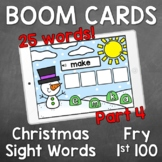 Boom Cards - Christmas Sight Words - Fry's First 100 [Part 4]