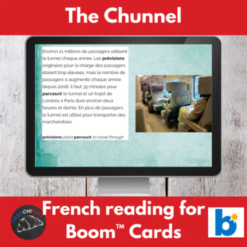 Boom Cards™ - Chunnel reading for French learners