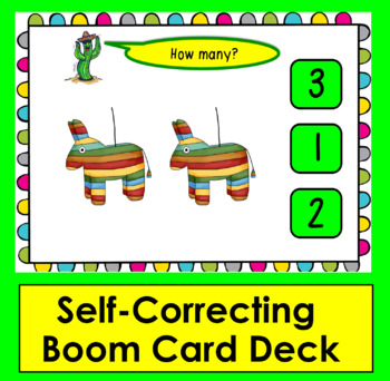 Boom Cards™ Cinco de Mayo Math Counting to 10 - Click/Touch the Answer