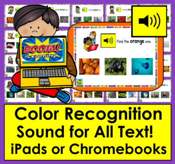 Boom Cards™ Color Recognition Deck 2 - 22 Interactive Self-Checking With Sound
