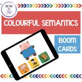 Boom Cards - Colourful Semantics - Teletherapy