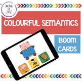 Boom Cards - Colourful Semantics - Teletherapy