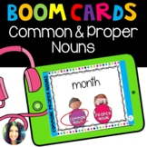 Common & Proper Nouns- Boom Cards™ Distance Learning
