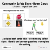 Boom Cards - Community Safety Signs Distance Learning - Life Skills