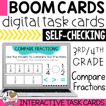 Boom Cards Compare Fractions