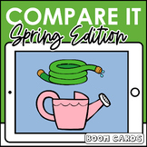 Boom Cards | Compare It : Spring  | Speech Therapy Distance Learning Describing