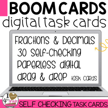 Boom Cards Comparing Decimals and Fractions