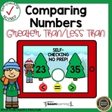 Boom Cards Comparing Numbers Christmas Tree