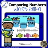 Boom Cards Comparing Numbers to 1,000 Winter