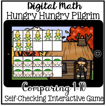 Boom Cards - Comparing Numbers to 10 (Kindergarten November Math)