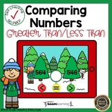 Boom Cards Comparing Three-Digit Numbers  Christmas