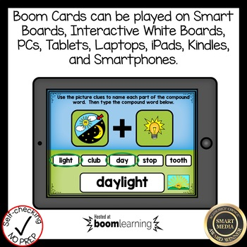Boom Cards Compound Words