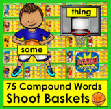 Boom Cards Compound Words Basketball!  75 Compound Words -
