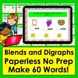 Boom Cards™ Blends and Digraphs - Deck 1 - Make 60 Words!