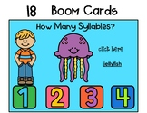 Boom Cards Count the Syllables