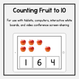 Boom Cards: Counting Fruit to 10