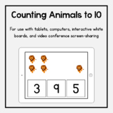 Boom Cards: Counting Safari Animals to 10