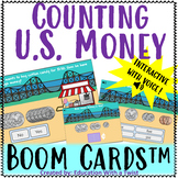 Boom Cards™ Counting U.S. Money Amusement Park Interactive