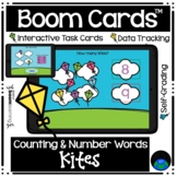 Boom Cards™ Counting and Number Words Kites