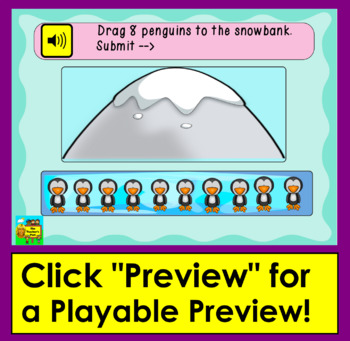 Boom Cards Math Counting to 10 Count as Objects are Dragged -Digital Interactive