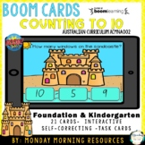 Boom Cards™ Counting to 10 - Summer Sandcastles - Distance