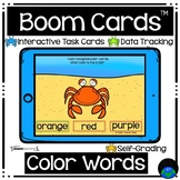 Boom Cards™ Crabs Identifying Color Words Distance Learning