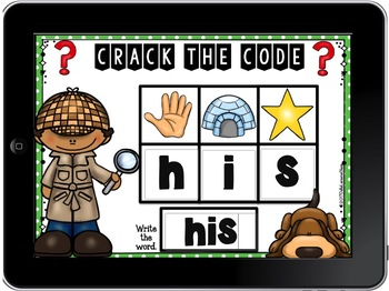 Boom Cards Crack the Code Sight Words