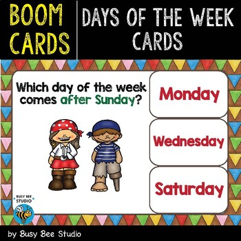 Boom Cards | Days of the Week Cards