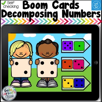 Boom Cards Decomposing Numbers - Dice
