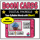 Boom Cards Digital Phonics Silent E Two-Syllable Words with VC & VCe