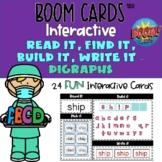 Digraph Boom Cards™ Phonics Read, Find, Build, Spell