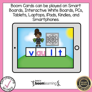 Boom Cards Diphthongs AW and AU Build a Word