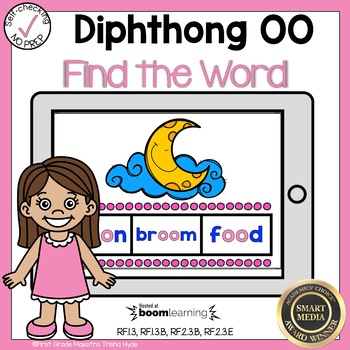 Boom Cards Diphthong OO Find the Word