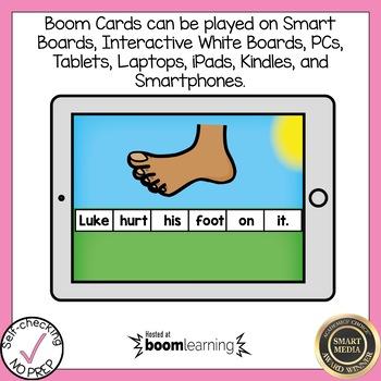 Boom Cards Diphthong OO Sentence Scrambles