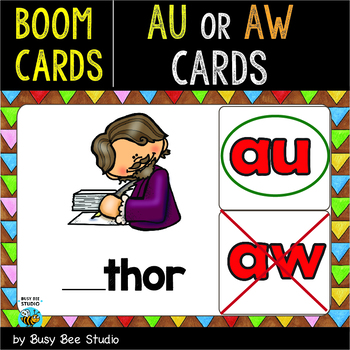 Boom Cards | Diphthongs AU-AW Cards