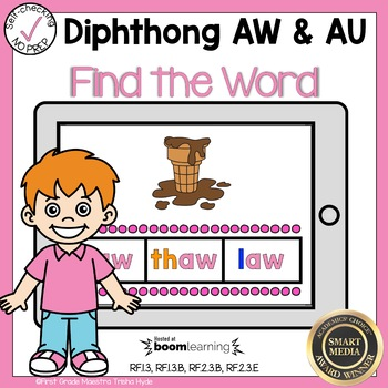 Boom Cards Diphthongs AW and AU Find the Word
