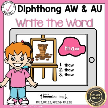 Boom Cards Diphthongs AW and AU  Write the Word