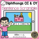 Boom Cards Diphthongs OI and OY Sentence Scrambles